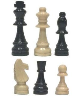 Chess Pieces Wood Staunton King Height 77mm in carton box - size 3