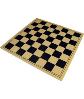 Chessboard 50 cm plastic NOT foldable beige/black - squares 55mm