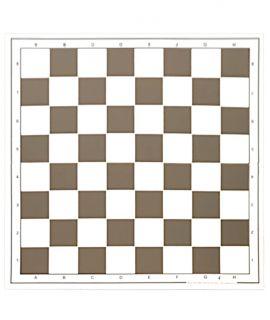 Schaakbord 49 cm plastic vouwbaar wit / bruin - velden 55 mm (#6)