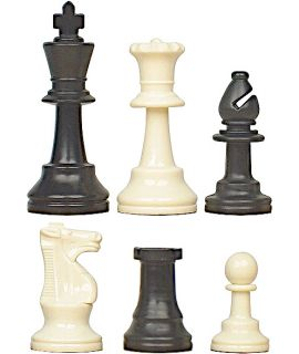 Chess pieces Staunton plastic - king height 64 mm