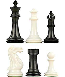 Luxe verzwaarde kunststof Original Staunton schaakstukken - koningshoogte 100 mm