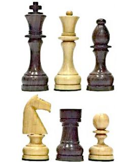 Chess pieces polish Staunton 7 weighted natural wood - demo