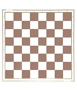 Laminated chessboard 49 cm - white and brown squares 55 mm - foldable
