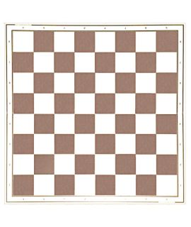 Laminated chessboard 49 cm - white and brown squares 55 mm