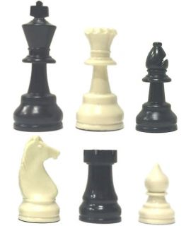Raindrop chess pieces weighted - king height 85 mm - size 4