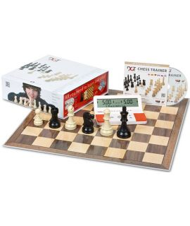 DGT Chess Starter Box Red (Pieces, Board, Chess Trainer CD and chess clock)