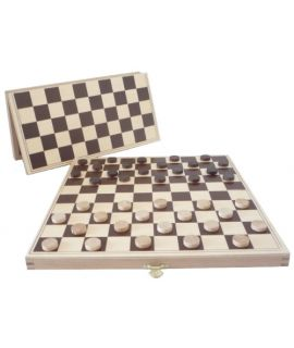 French Draughts in folding box, printed, squares 30mm