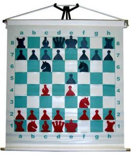 Slotted chess demonstration board rollable 69 cm