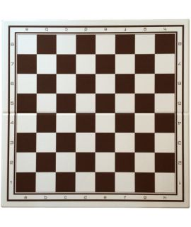 Chessboard 52 cm plastic foldable white/brown - squares 55mm - premium quality