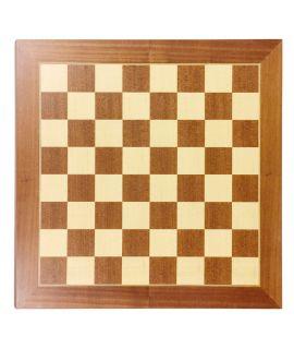 Schaakbord 55 cm mahonie - esdoorn zonder notatie - velden 55 mm - maat 6