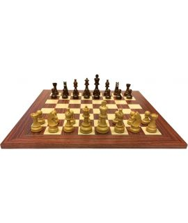 Rosewood chess board 50 cm - combinations with wooden pieces size 5/6/7