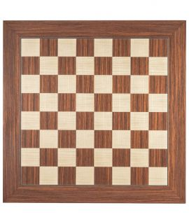 Rosewood and maple luxury chess board 45 cm - fieldsize 45 mm - size 4