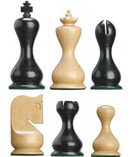Chess pieces Staunton 6 Rubens weighted stained black
