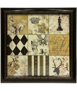 Vintage luxury framed chess picture 60 cm