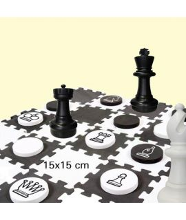 Giant chess pieces small king height 31 cm and EVA chess and checkers set