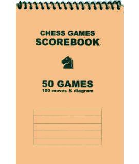 Spiral-bound chess scorebook - beige