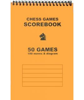 Spiral-bound chess scorebook - orange