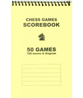 Spiral-bound chess scorebook - yellow