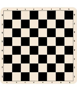 Silicone chess board 51 cm - chess squares 57 mm black and white