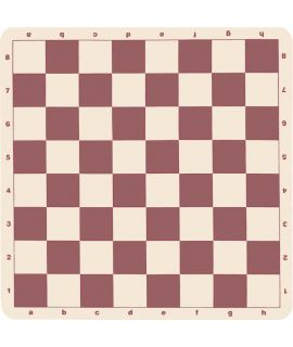 Silicone chess board 51 cm - chess squares 57 mm brown and white