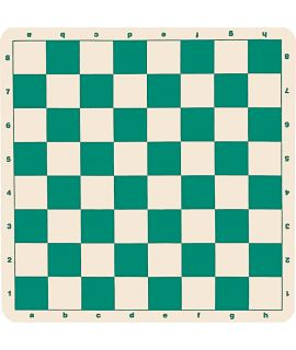 Silicone chess board 51 cm - chess squares 57 mm green and white