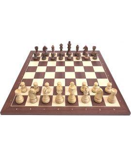 Wedstrijd Staunton schaakspel met luxe schaakstukken 54 cm - maat 6
