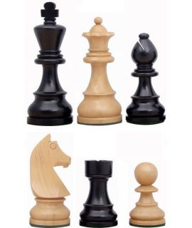 Reserve schaakstuk voor Staunton verzwaard - gepolijst en satijn zwart chikri (#6)