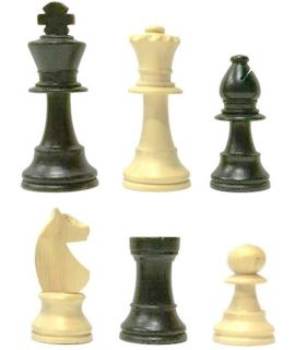 Classic Staunton chess pieces - ebonized boxwood - king height 73 mm - size 3 - vintage