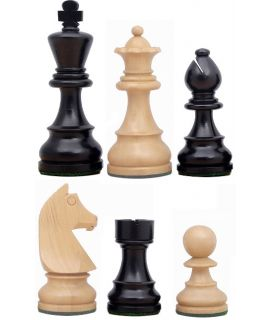Chess pieces Staunton 6 tournament premium weighted stained black - german knight