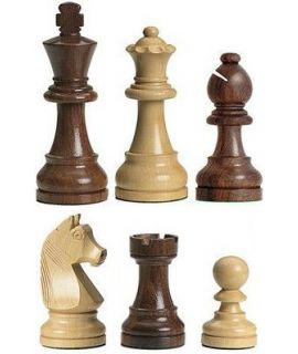 Chess pieces Staunton 3 tournament premium weighted natural wood- german knight
