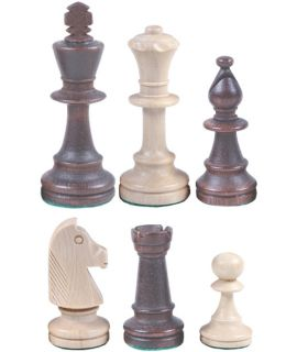 Chess pieces Staunton wood - king height 90mm