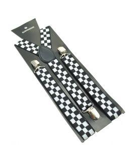 Verstelbare clip-on elastische unisex Y-vorm bretels - 2,5 cm breed