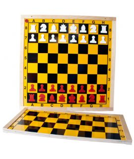 Chess demonstration board magnetic and foldable 80 cm