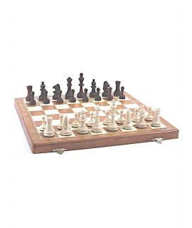 Chess foldable tournament set printed 52 cm - size 6 mm