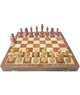 Luxury chess travel set 23 x 46 cm - size 6