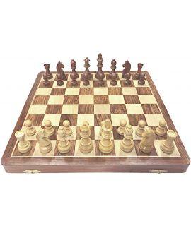 Luxury chess travel set 20 x 40 cm - size 5