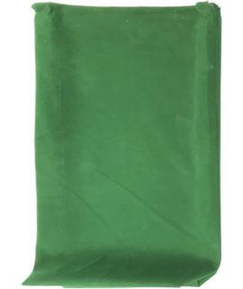 Groen fluwelen buidel voor opvouwbare schaakset 25 x 12.5 x 5 cm