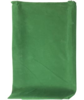 Groen fluwelen buidel voor opvouwbare schaakset 12.5 x 6.25 x 3.5 cm