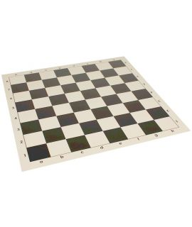 Vinyl roll-up chess board 43 cm green