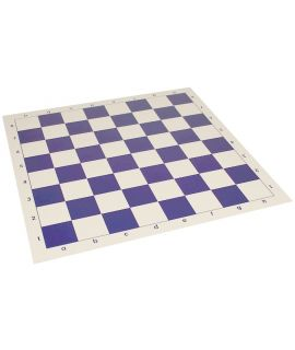 Vinyl roll-up chess board 51 cm - chess squares 57 mm blue and white