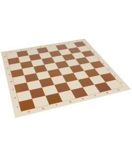 Vinyl roll-up chess board 51 cm - chess squares 57 mm brown and white