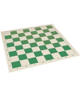 Oprolbaar vinyl schaakbord 43 cm - schaakvelden 45 mm groen en wit