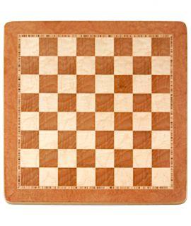 Schaakbord 54 cm iepenwortelhout en vogeloog esdoorn - velden 55 mm (#6)