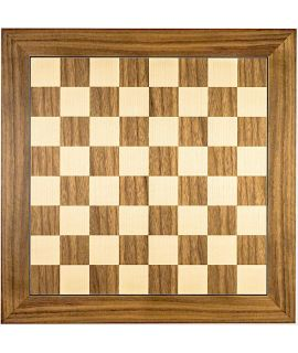 Walnut and maple luxury chess board 50 cm - fieldsize 50 mm - size 5