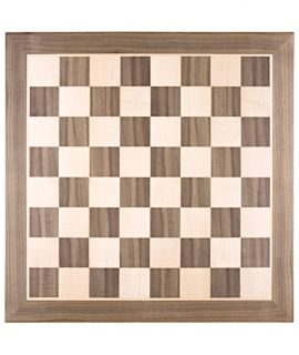 Chessboard 48 cm walnut - maple - squares 50 mm - size 5 - minor blemish