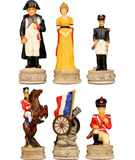Arabesque Staunton metal chess pieces - king height 75 mm (#3)