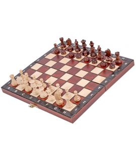 Magnetic foldable chess set brown 27 x 13,5 x 4 cm, king 55 mm