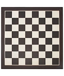 Chessboard 54 cm wenge - maple with notation - squares 58 mm