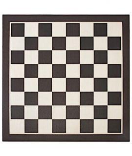 Chessboard 59 cm wenge - maple - squares 64 mm