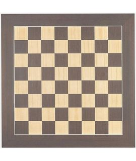 Luxe schaakbord wenge en esdoorn 40 cm - veldmaat 40 mm - maat 3